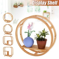 Wooden Storage Rack Stand Holder Simple Display Hanging Shelf Stand Wall mounted Table Rack DIY Decoration Home Storage Shelf