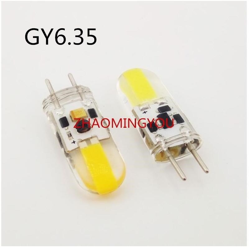С регулируемой яркостью GY6.35 светодиодный лампы 6 Вт AC/DC 12V кукурузы светильник лампы падение светильник люстра 1505 G6.35 COB светодиодный Bombillas бе...