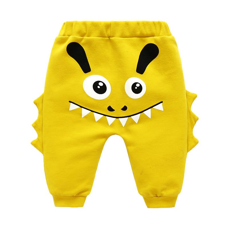 Cartoon Style  Baby Boy Pants Toddler Boy Soft Jeans Girl Baby Pants Cotton Children Autumn Warm Pants