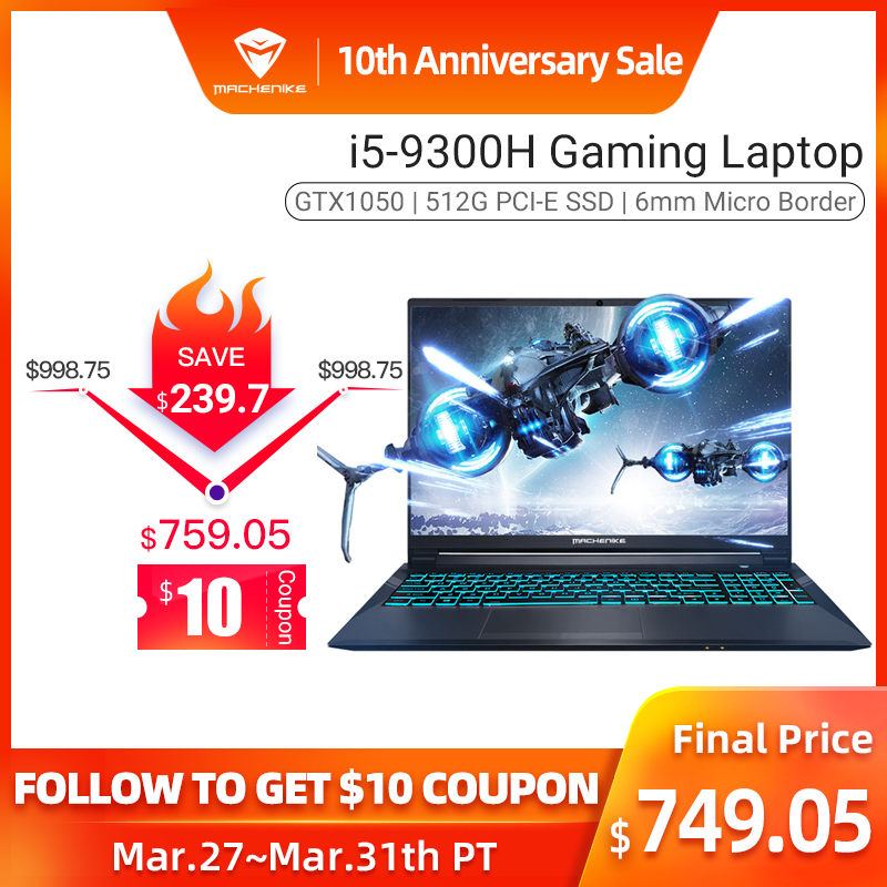 Machenike Ram/512g Gaming-Notebook GTX1050 I5-9300h SSD/15.6'' 8GB T58-VA In-Stock title=