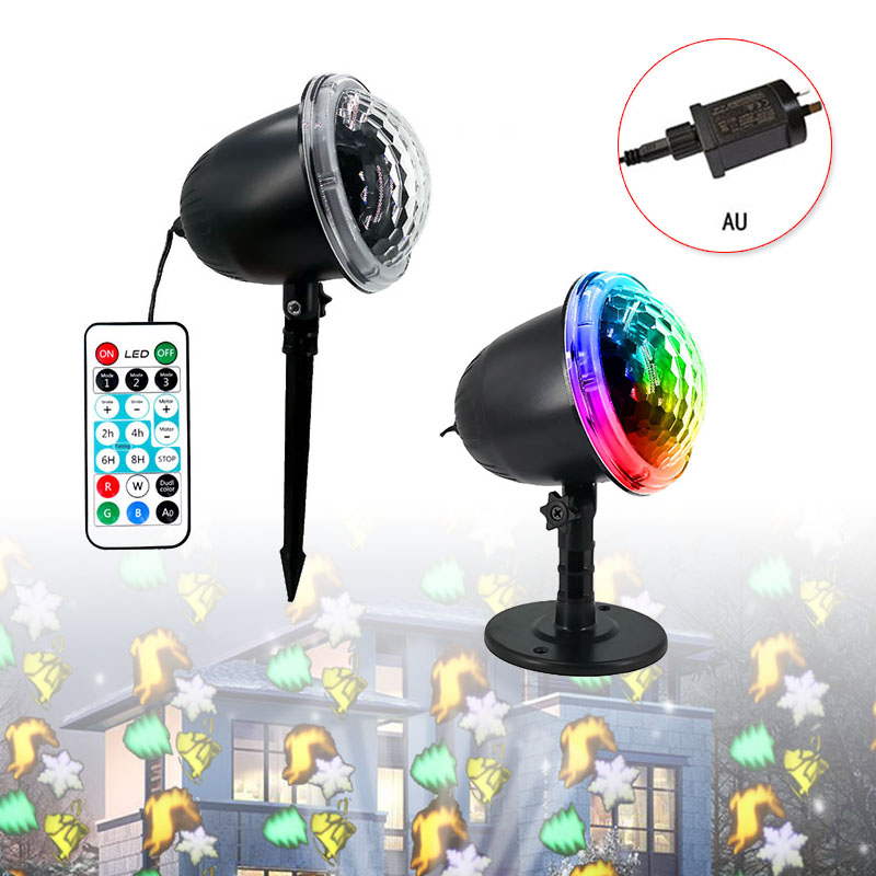 New Arrival 1 Set Of Black Snow Falling LED Moving Laser Projector LED Snowflake Landscape Garden Lamp New Arrivals