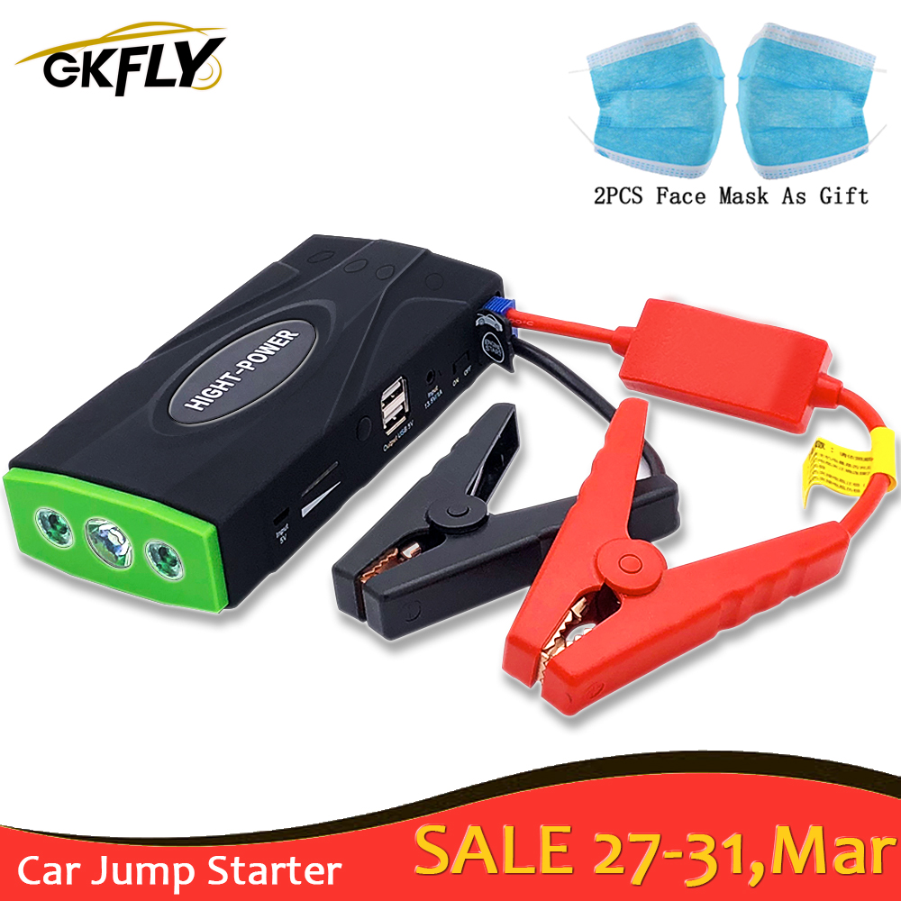 GKFLY High Capacity 12V 600A Starting Device Multi-Function Jump Starter Car Charger For Car Battery Booster Buster Power Bank