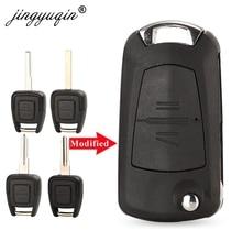Jingyuqin 2 כפתורים השתנה Flip רכב מרחוק מפתח מעטפת ולוקסהול אופל אסטרה Zafira Vectra Omega HU100/HU46/HU43/YM28 מפתח מקרה