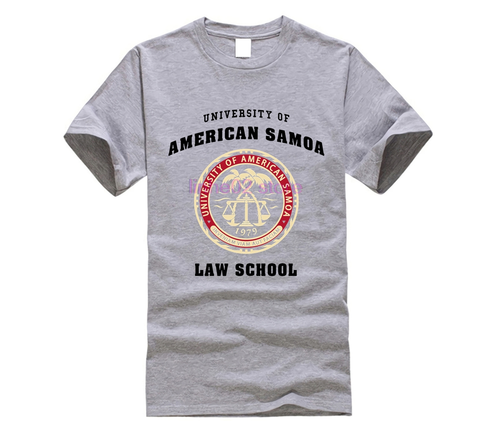 BCS - University of American Samoa Law School T-Shirt Cotton casual cool short-sleeved T-shirt image