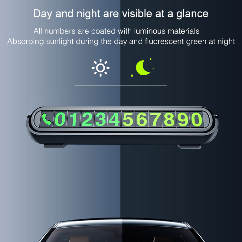 2020 New Luminous Car Temporary Parking Card Sticker Car Air Freshener Auto Phone Number Card Plate Car Aromatherapy Accessories 1