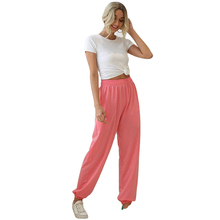 Women Trousers Sweat-Pants Black High-Waist Winter Pocket with Joggers Sexy Autumn