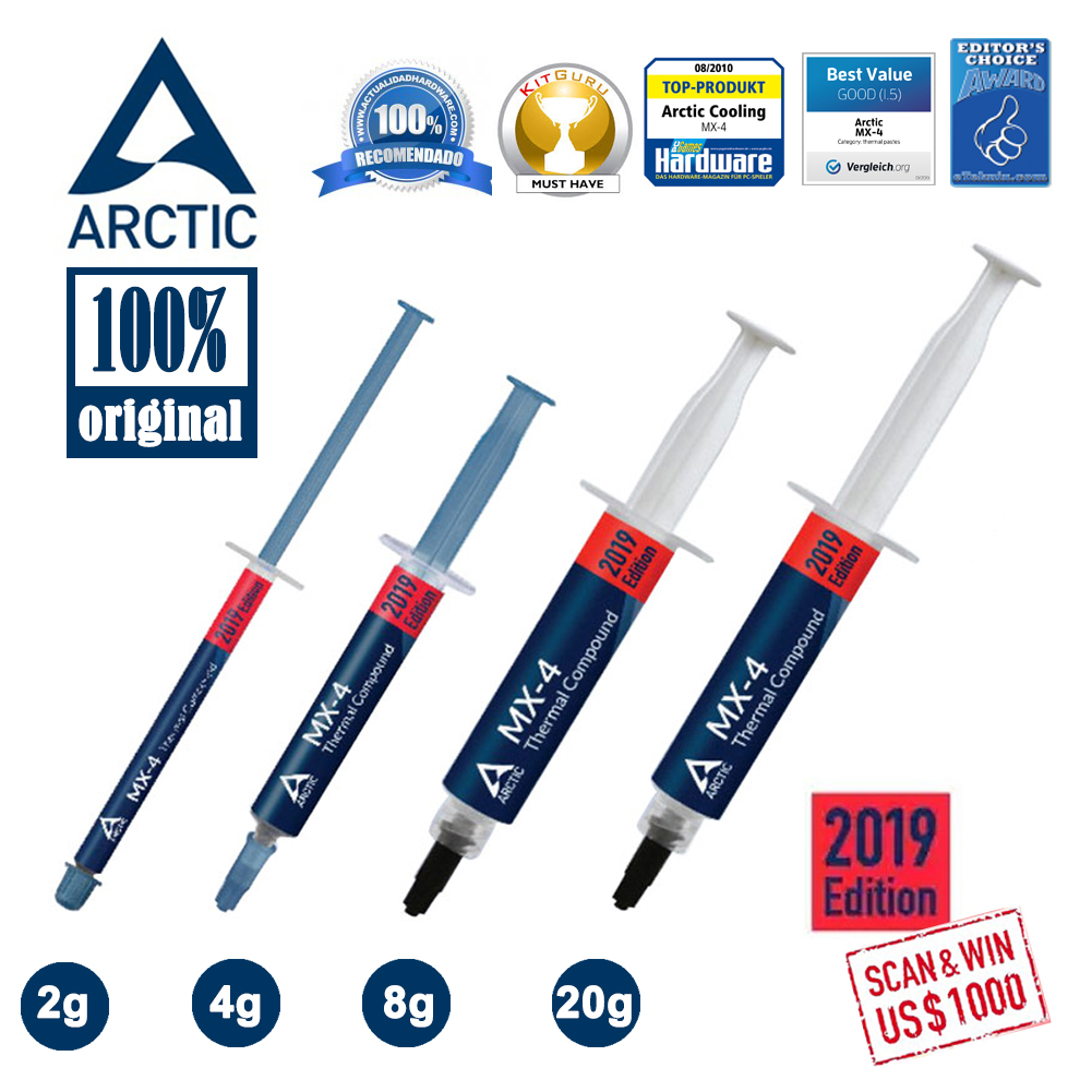 Offical Original New Arctic 2019 Mx 4 4g 2g 8g 20g Mx 4 Mx 2 Mx 2 Cpu Cooler Cooling Fan Thermal Compound Paste Grease Heatsink Fluid Diy Cooling Aliexpress