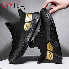 CYYTL موضة أحذية الرجال الراحة الصيف تنفس أحذية رياضية خفيفة الوزن شبكة عادية الذكور المشي الأحذية sportusbenen Heren