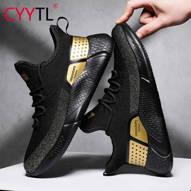CYYTL אופנה גברים נוחות נעלי קיץ לנשימה ספורט סניקרס קל משקל מזדמן רשת זכר הליכה נעל Sportschoenen Heren