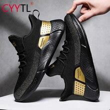 Cyytl moda masculina conforto sapatos verão respirável esporte tênis de malha leve casual masculino sapatos caminhada sportschoenen heren