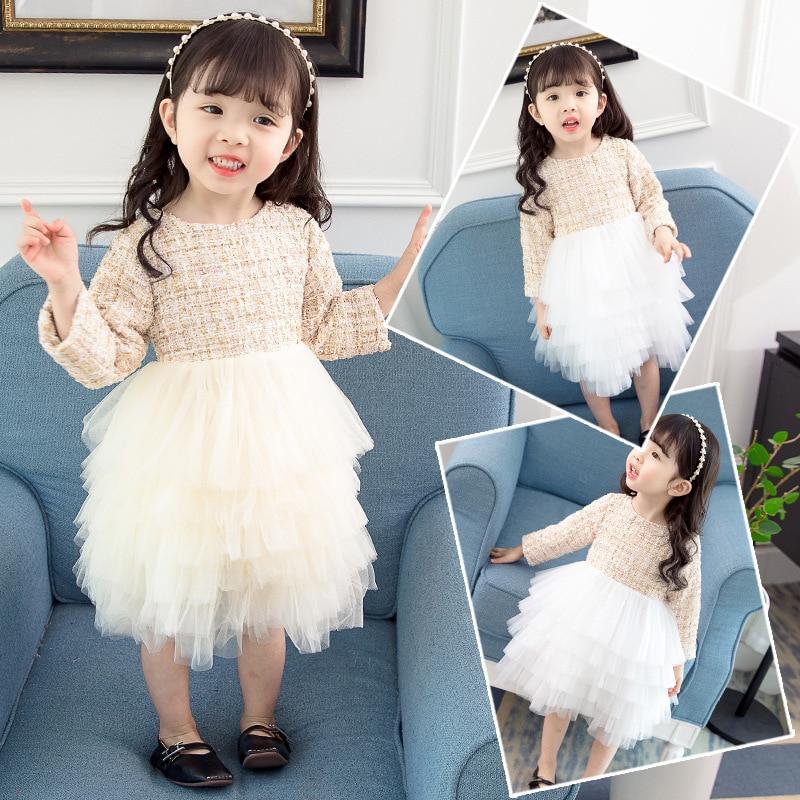 Girls Evening Dress Princess Dress Children Wedding Dress Puffy Yarn Flower Boys/Flower Girls Birthday Performance Host Piano Co