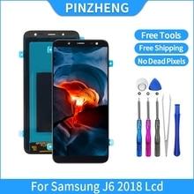 PINZHENG 100% מקורי OLED LCD עבור סמסונג גלקסי J6 2018 J600F J600 LCD OLED תצוגת מסך מגע עצרת