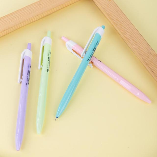 DELI Ball Point Pen Color Student Ballpoint Pen smooth writing Mini tip 0.7mm Fashion Macaron EQ03330 2