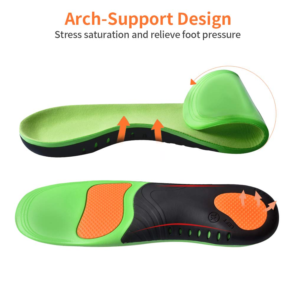Shoes Sole Insoles For Men Women Pads Sneaker Shields PU Orthotic Insole Flat Feet Arch Support Orthopedic Basket Montante Femme