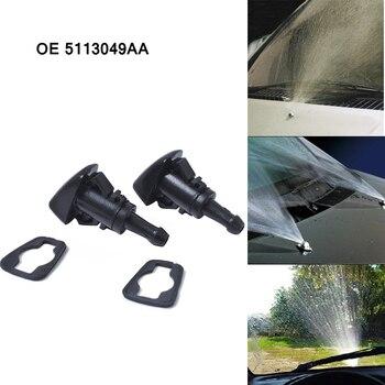 OE 5113049AA rociador de agua lavadora 1 par limpiaparabrisas boquilla de chorro limpiaparabrisas rociador Spray para Chrysler para Dodge Jeep Car