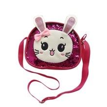 Детская милая сумка через плечо с мультипликационным принтом; модная повседневная сумка через плечо для девочек