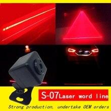 цена на Laser Light Car LED Fog Light 12V Rear Anti Fog Anti-Collision Brake Tail Light Driving Safety Warning Alarm Lamp Taillight