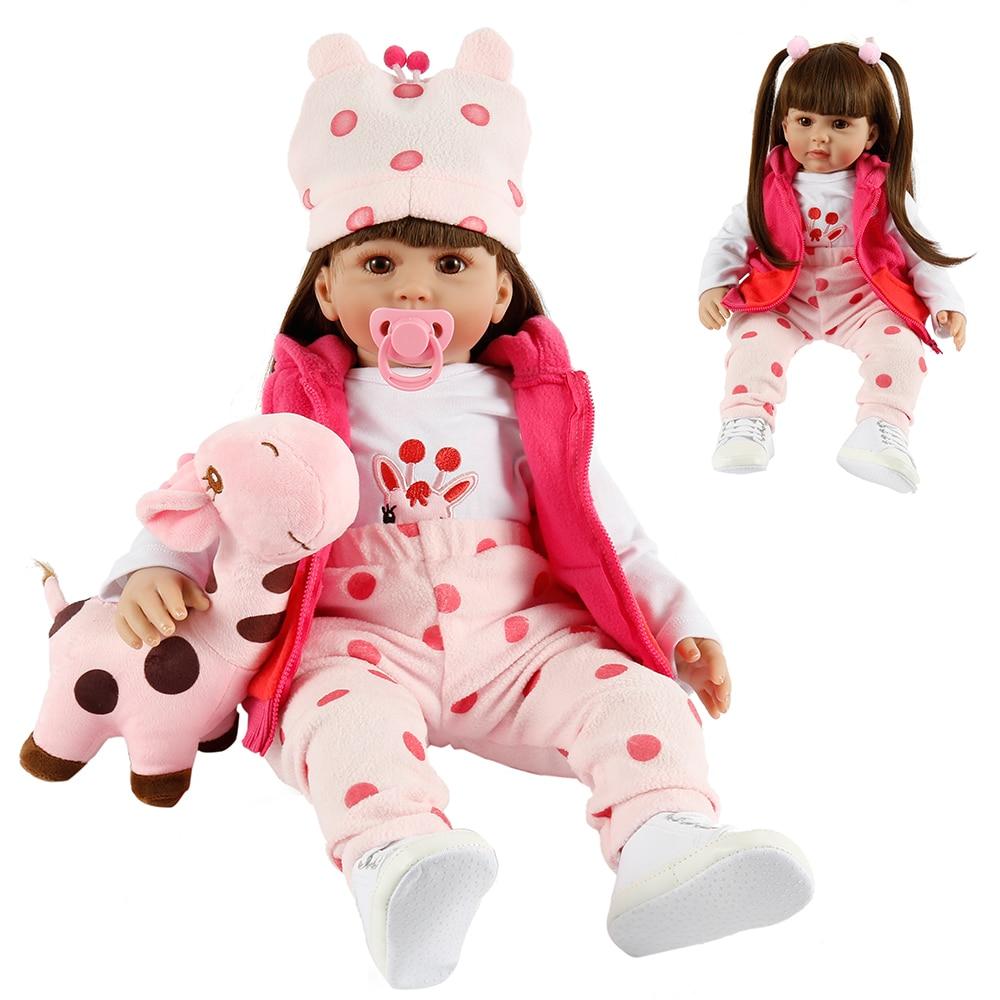 60CM Reborn Toddler Princess Girl Doll Soft Silicone Vinyl Adorable Lifelike Baby Bonecas Bebe Reborn Doll Menina Newborn Dolls