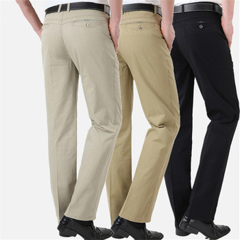 Men Pants Summer Baggy New Casual Cotton Slim Fit Business Chinos Fashion Trousers Male Brand Clothing Straight