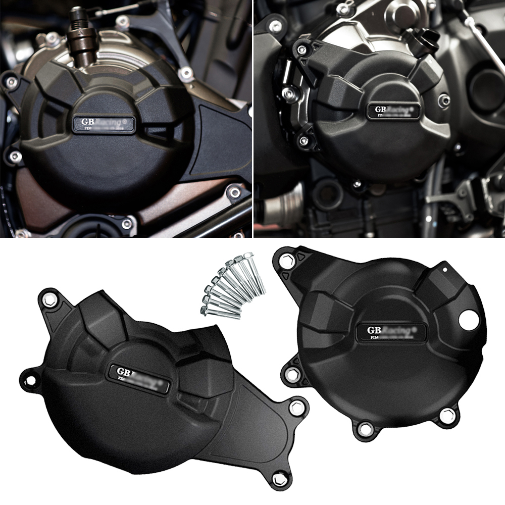 Motorcycle Secondary Engine Cover Protection Set Case for GB Raing for <font><b>Yamaha</b></font> MT07 <font><b>MT</b></font>-<font><b>07</b></font> <font><b>Tracer</b></font> 2014-2019 image