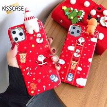 KISSCASE noël 3D bonhomme de neige téléphone étui pour iphone 11 Pro Max 11 étui nouvel an étui pour XR XS Max X 6 6S 7 8 Plus housse Coque