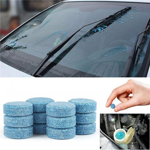 10 Pieces Car Windshield Cleaning Effervescent Spray Cleaner Tablet Window Glass Cleaner Car Solid Wiper Fine Rain Scraper