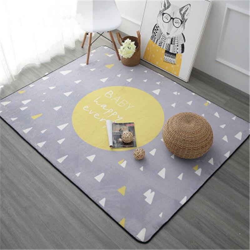 Offre spéciale bande dessinée enfants délicat tapis doux pour bébé ramper salon enfants tapis maison étage enfants jouer porte tapis - 2