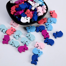 30PCS Cute Koala Modeling Wooden Beads DIY Children Cartoon Toys Beaded Ornaments Bracelet Jewelry Accessories 21mmX13mm цена