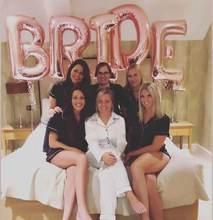 5 pçs 32 polegada rosa ouro noiva letra balões de folha decorações de casamento equipe noiva alfabeto balão de ar para o casamento da noiva ballon
