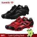 Santic 4 Style Pro MTB велосипедная обувь для езды на горном велосипеде  обувь с замком  Нейлоновая подошва  мужские и женские гоночные кроссовки  Zapatos...