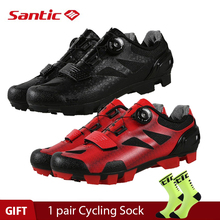 Santic 4 Style Pro MTB Bike Cycling Shoes Mountain Bicycle Self-Lock Shoes Nylon Sole Men women Racing Sneakers Zapatos Ciclismo santic women cycling shoes mtb shoes mountain bike biking sneakers rotating lock matte pu chili color scarpe mtb non skip heel
