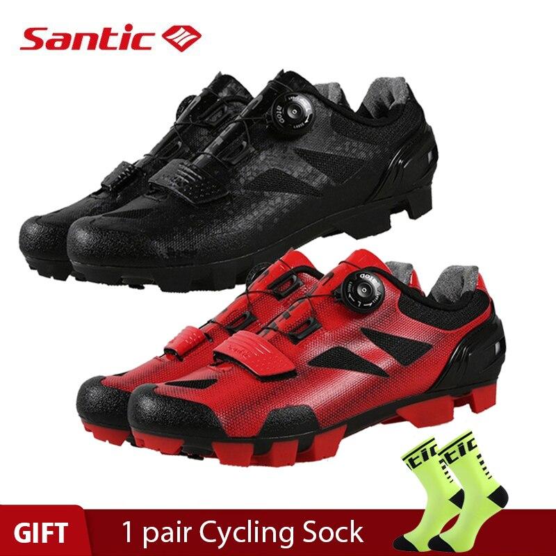 Santic 4 Style Pro vtt vélo chaussures de cyclisme vélo de montagne auto-verrouillage chaussures Nylon semelle hommes femmes course baskets Zapatos Ciclismo