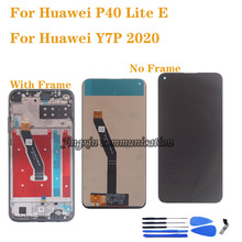 "6.39 ""para huawei y7p 2020 lcd screen display toque digitador assembléia para huawei p40 lite e arte l28 l29 l29n lcd com quadro"