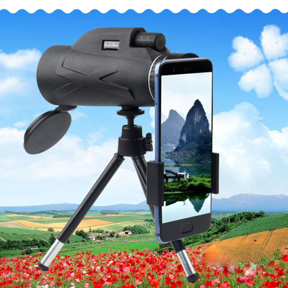 80x100 Monocular Photograph Hunting Optical Lens Portable Zoom Telescope Camera Outdoor Night Vision Waterproof Camping Hiking