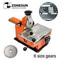 ZONESUN металлический листовой тиснитель ручная стальная машина для тиснения этикетка с тиснением Инструмент для гравировки