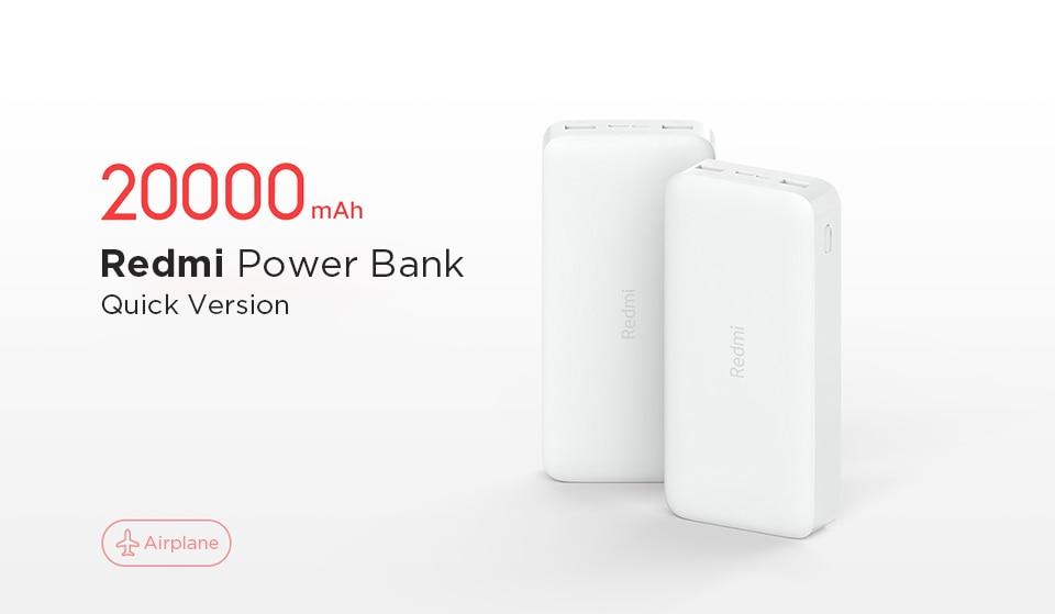 Original Redmi Power Bank Xiaomi 20000mAh PB200LZM QC3.0 USB Type C  Portable Charging Mi Powerbank 10000 External Battery XIAOMI|Power Bank| -  AliExpress