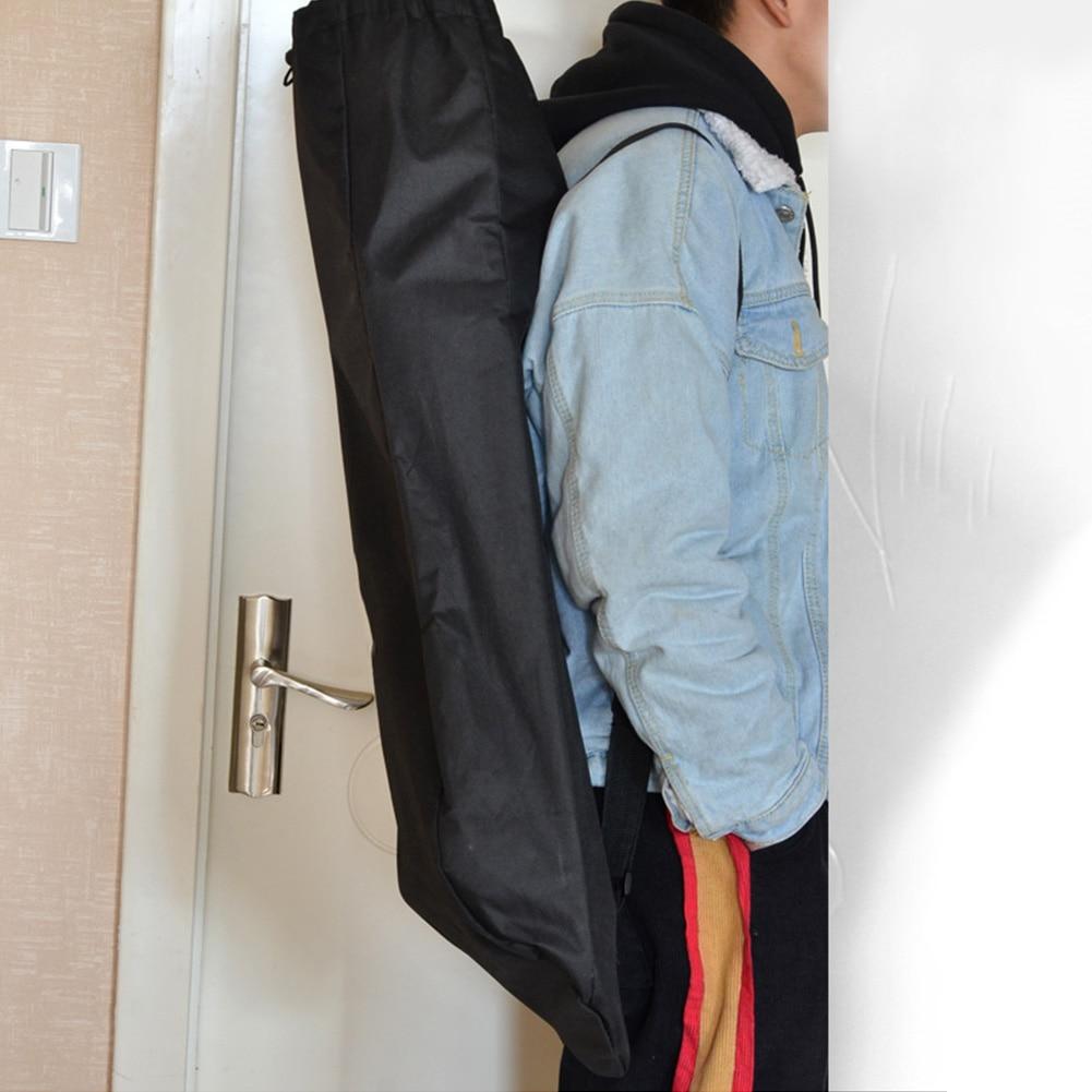 Travel Waterproof Backpack Skateboard Bag Unisex Longboard Adjustable Accessories Oxford Cloth Solid Shoulder Cover Black