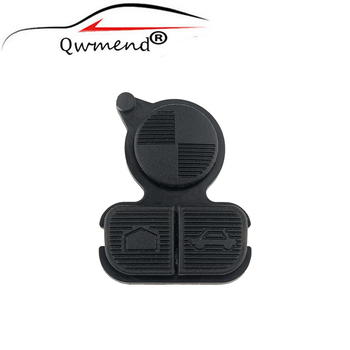 QWMEND Car Key Shell Cover Case for BMW Series 3 5 7 E38 E39 E36 Z3 Z4 Z8 X3 X5 Repair Pad 3 Buttons image