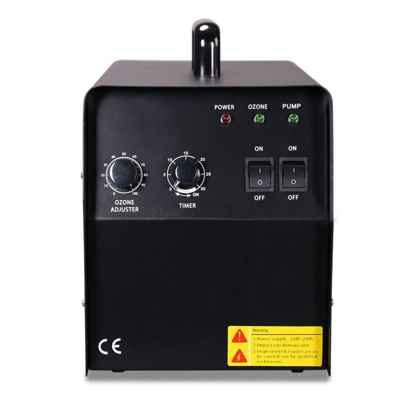 EU 150W 7G/H Air Ozone Generator Machine Ceramic Tube Either Ozone Yield Timer 2 Air Source For Air Purifier Water Sterilization