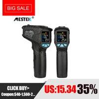 MESTEK инфракрасный термометр-50 ~ 800C цифровой измеритель влажности гигрометр 12 точка температура тестовая зона ИК лазерный термометр