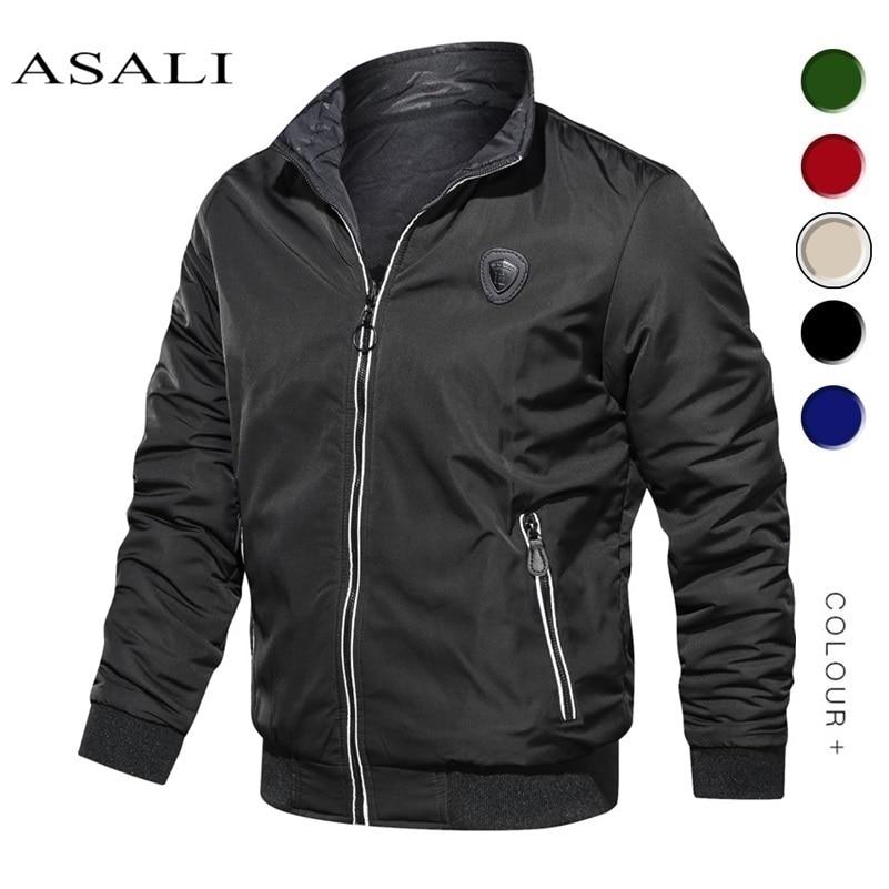 Spring Autumn 2020 Plus Size Men Coats And Jackets Mens Bomber Zipper Jacket Casual Streetwear Hip Hop Slim Fit Coat Man  Jacket