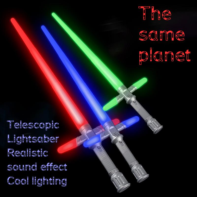 Hot Selling Lightsaber Metal Sword Rgb Laser Cosplay Boy Toy Luminous Light Outdoor Wars E7 Stick Saber Weapon Toys For Kids