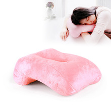 Simanfei Latex Sleeping Pillow Short Plush Hollow Breathable Office Soft Multi-functional Seat Cushion Hand Rests