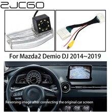 ZJCGO HD CCD Car Rear View Reverse Back Up Parking Camera Upgrade Original Car OEM Monitor for Mazda 2 Mazda2 Demio DJ 2014~2019