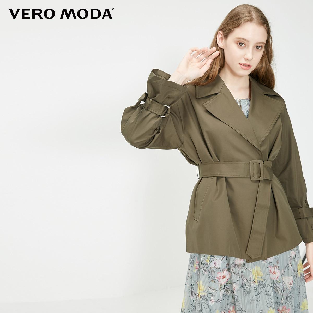 Gabardina corta con botones decorativos de algodón 100% para mujer de Vero Moda | 319117514 - 2