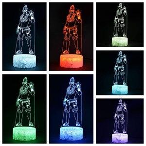 Image 3 - Kale gece sezon 9 yaz sürüklenme aksiyon modeli şekil dekor lamba savaş Royale yaz Drift 3d iillusion gece ışıkları oyuncaklar