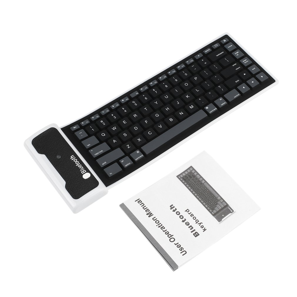 New Flexible Silicone Wireless Bluetooth Keyboard Mini Keyboard With USB Charging Cable Universal For PC Laptop IPad