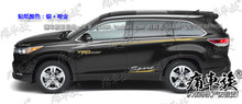 цена на For Toyota New Highlander Car Sticker Body Exterior Decoration Sticker Highlander Exterior Modified Sticker Supplies Film