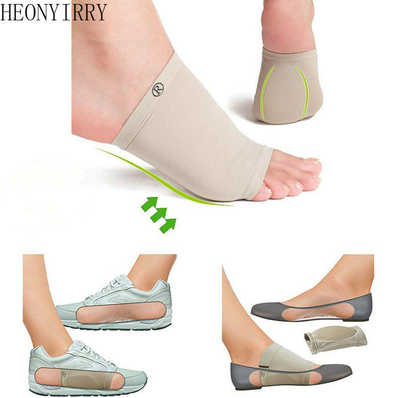 Arch Support Orthotic Plantar Fasciitis Cushion Pad Sleeve Heel Spurs Flat Feet Orthopedic Pad Correction Insoles Foot Care Tool