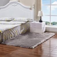 Faux Pelz Teppich Weichen  Flauschigen Teppich 60x90 cm Shaggy Teppiche Faux Schaffell Teppiche Boden Teppiche für Schlafzimmer wohnzimmer Kinder Zimmer D-in Teppich aus Heim und Garten bei